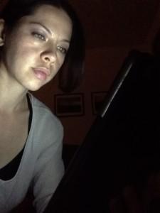 Laura and iPad