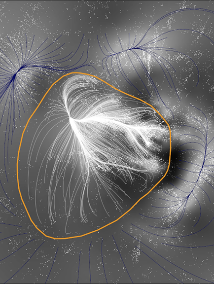 This image shows Laniakea with some of its neighboring clusters. Courtesy of Macmillan Science and Education