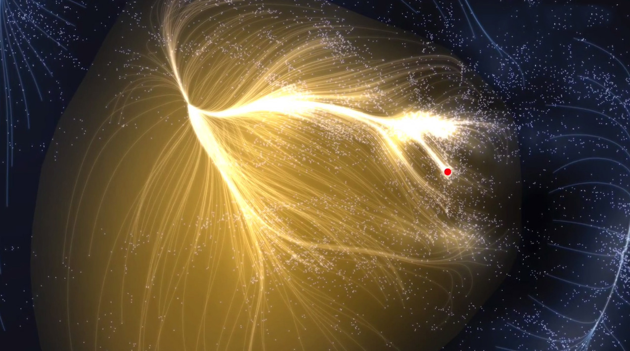 Laniakea-galaxy-supercluster. Courtesy of Macmillan Science and Education