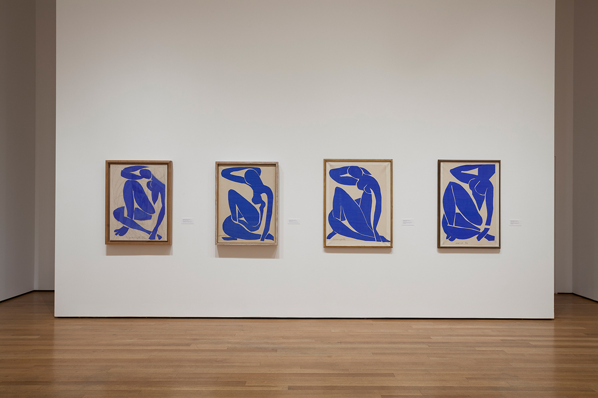 Installation view, Matisse Cut-Outs, MoMA, 2014